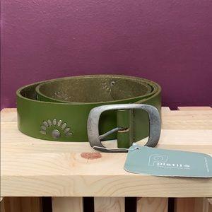 Pistil leather belt NWT size medium